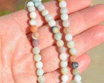 1 Strand Amazonite 5mm Round Beads BD851
