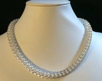 Silver Full Persian Chainmaille necklace