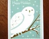 Snow Owl Holiday card