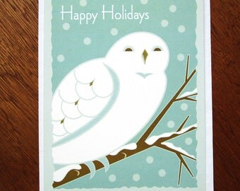 Snow Owl Holiday card