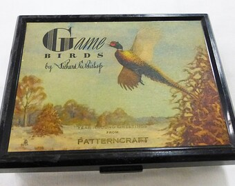 Vintage brown & bigelow birds playing cards in original box