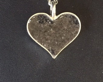 Cremation Jewelry Sterling Silver Heart pendant Pet Remembrance jewelry