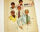 Vintage 1970s, Sewing Pattern, Butterick 6013, Men's Ties, 5 Styles