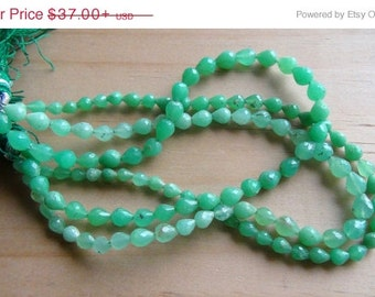35% OFF Chrysoprase faceted drop shaped briolette- last strand