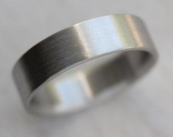 6x1.5mm Men's Comfort Fit Palladium or Gold Wedding Band - Recycled, Eco-friendly, Ethical Wedding Ring - Custom Made Ring