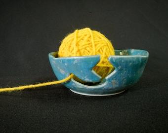 Dainty Blue Yarn Bowl