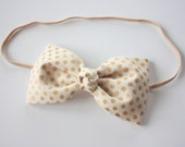 Lennox- Fabric Bow Headband