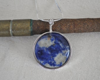 Hand Forged - Organic - Sterling  - Artisan - Jewelry - Sodalite - Intelligence - Truth - Unique - OOAK