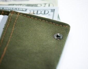 olive green wallet, vegan wallet, small wallet, canvas wallet, slim wallet, cool wallets, travel wallet, thin wallet, cute wallets