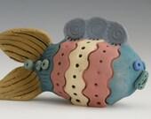 Fish, Clay Fish, Colorful Fish, Porcelain Fish, Ceramic Fish, Whimsical Fish, Fish Sculpure