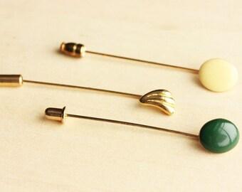 Vintage Green Stickpin Set