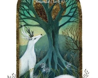 A fairytale art print .  'The Den'  by Amanda Clark.