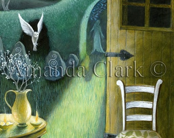 Moon Shadow. A print from an original painting by Amanda Clark