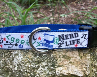 Nerd Dog Collar, In M, L, XL