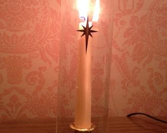 Mid Century Hurricane Lamp/Candle Holder