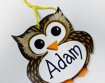 Owl Ornament    Personalized Just For You !