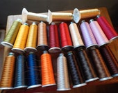 Madeira Thread Cones Lot of 19 Poly and 3 Metalic Embroidery and Surging Thread