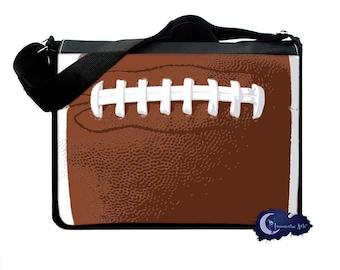 Football -  Messenger and Laptop Computer Bag