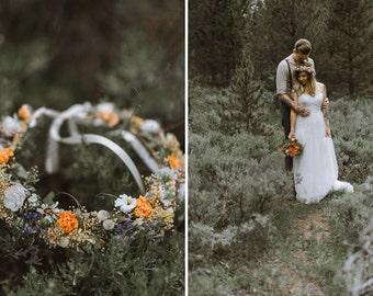 Mountain Weddings dried Flower crown Bridal headpiece costume Forest Headdress spring hair wreath autumn festival headwreath accessories