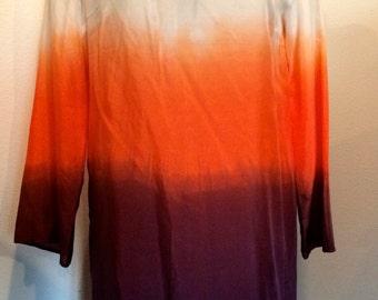 ON SALE -> Silk Color Block Tunic