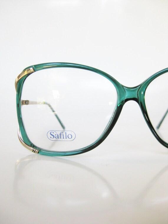 Emerald Green Eyeglass Frames : Emerald Green Eyeglasses Vintage 1970s Oversized Sunglasses