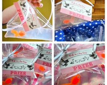 1 Organic Soap Bathtub Fun Party Favor County Fair Carnival Circus Birthday Prize Gold Fish Soap in a Bag with Prize Card tied with Raffia