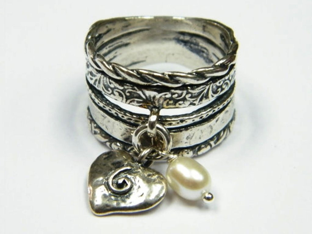 sterling silver ring vintage inspired pearl ring sterling