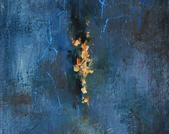 "Original Abstract Painting Modern Neutral Grey Art 7x9"""