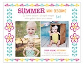 Spring, Summer Mini Session Marketing Board Template for Photographers - INSTANT DOWNLOAD