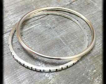 Sterling Silver Bracelet Bangle Bracelet Brushed Finish Handmade Jewelry Wild Prairie Silver