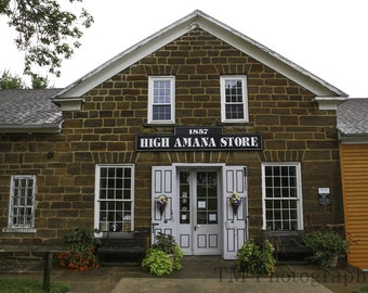 Amana Colonies - High Amana - High Amana Store - Flowers - Flower Gardens - Iowa - German - Historic Village - Fine Art Photography