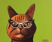 """201 Cat – print 38x38cm/15x15"""""""