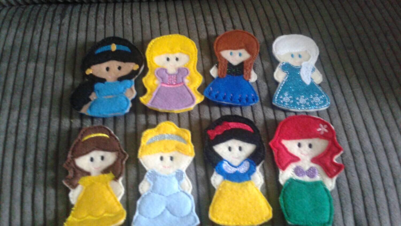 Felt Princess Finger Puppets