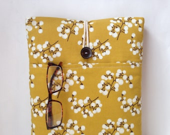 Yellow Macbook Air 13 Case Cord Pocket, Mac Book air 13. 3 inch Sleeve, Women Laptop Bag, Mobile Tablet Cover, Tree Branches Nature Citrine