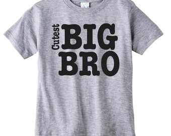 Cutest Big Brother Shirt Available For Big, Bigger, Biggest, Baby, Little, Middle Brother And Sisters
