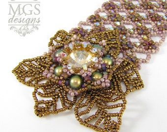 Mellow Gold Variations Bracelet - Beading Pattern/Tutorial Downloadable PDF