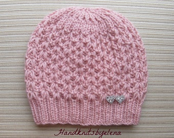 Instant Download # 185 Knitting Pattern Hat Vivienne in Size Adult