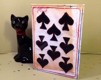 Playing Cards - Magic - 'Eight of Spades' - Greeting Card