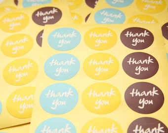 24 Thank You Stickers - Round - FREE SHIPPING with other purchase