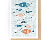 The Only Fish In The Sea - Greeting Card (2-31C)