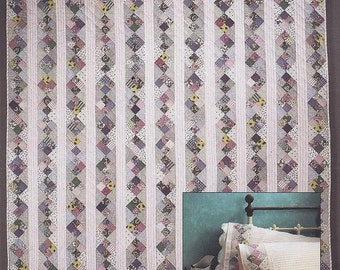 """Vintage hard to find quilt pattern """"Candy Stripes"""" by Duck Soup"""