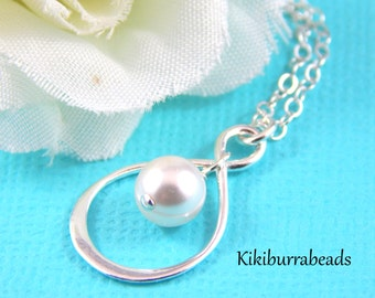 Infinity Necklace Sterling Silver Ideal For Bridesmaids Gifts, Brides, Maid Of Honor Or Mother Of The Bride
