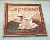 RESERVED FOR DARIAN expresso coffee  table mat, center piece, wall hanging    you decide its use!