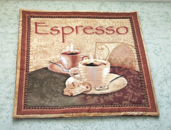 Reserved For Darian Expresso Coffee Table Mat Center Piece