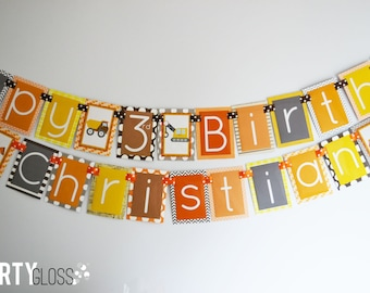 Construction Birthday Party Banner Decorations Fully Assembled