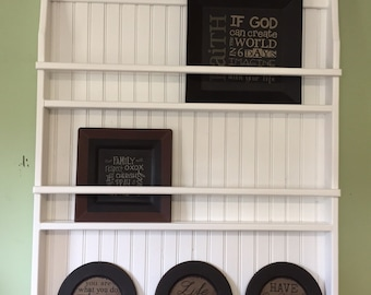 Wall Book Shelf or Plate Rack Primtive