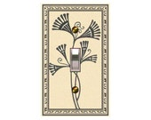 0562x  Art Deco Big Flower  Mrs Butler Switchplate  (Choose size/price from dropdown)