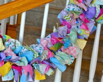 Bright Fabric Garland NO Ornaments,Decoration for the home,Party Decoration,Fabric Garland,Spring and summer garland,
