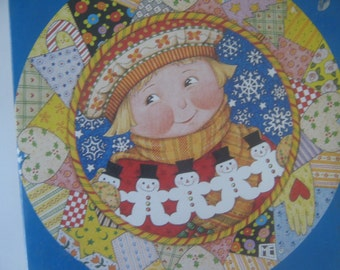 Vintage Puzzle Mary Engelbreit Patchwork Chrtstmas 500 Pieces