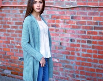 make your own Big Sister Cardigan (DIGITAL KNITTING PATTERN) for adult women teen junior
